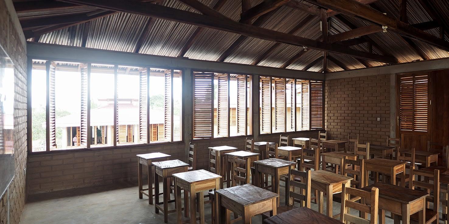 classroom in the Darmang school