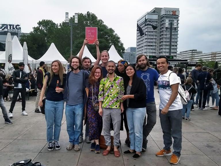 Volunteering in Berlin - webuilding team at Kenako Afrika Festival
